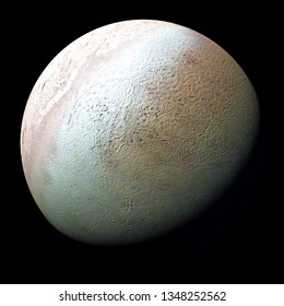 Triton, moon of planet Neptune isolated on black background (3d space illustration, elements of this image are furnished by NASA)