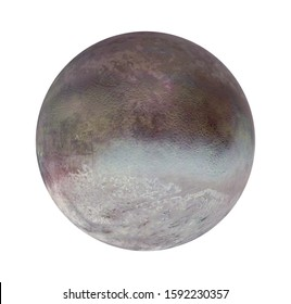 Triton, Moon of Planet Neptune Isolated (Elements of this image furnished by NASA). 3D rendering