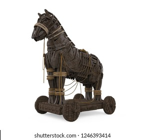 Trojan Horse Isolated. 3D rendering