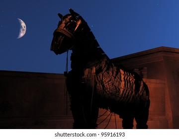 Trojan Horse at night