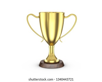 Trophy cup on a white background. 3d illustration.