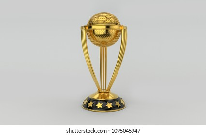 Trophy (Sports Gold Trophy 3D rendering)