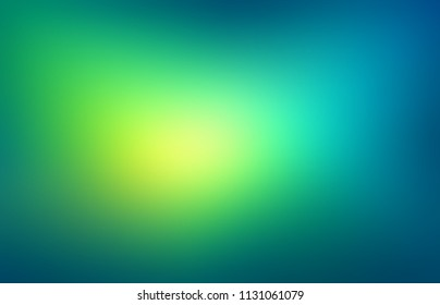 Tropical abstract background. Green blue turquoise gradient blurred texture. Empty defocus illustration. Miracle light. Underwater template.