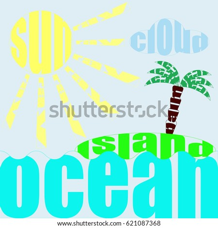 tropical background words stock illustration 621087368 shutterstock