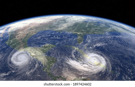 tropical cyclone as seen from space, 3D  ,3d illustration.