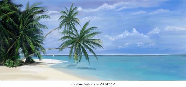 Tropical Island Bay