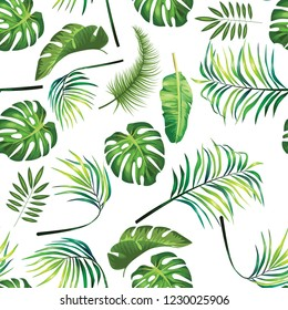 tropical leafage design pattern