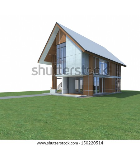 Royalty Free Stock Illustration Of Tropical Modern House Design