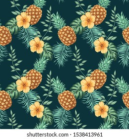 Tropical pattern can be used as print, pattern, poster, textile design, packaging design, element design, fabric, postcard, invitation, wallpaper, wrapping paper, greeting card and so on.