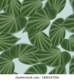 Tropical seamless background with leaves