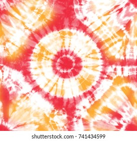 06213996a871 Tropical Tie-Dyed abstract fabric of cocktail of summery hues on white  cotton. Hand