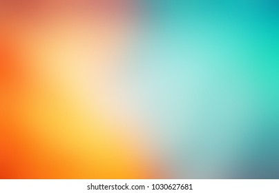 Tropics colored empty background. Orange blue abstract texture. Yellow turquoise blurred illustration. Beach and sea defocused pattern.