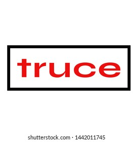 TRUCE stamp on white background