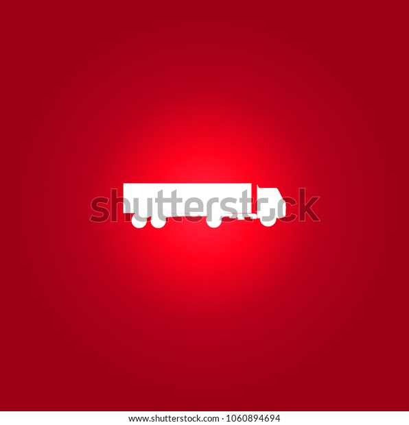truck icon. isolated sign