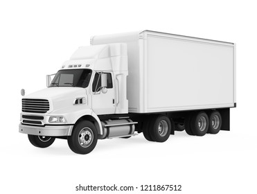 Truck Isolated. 3D rendering