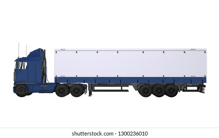Truck isolated on the white background 3d rendering
