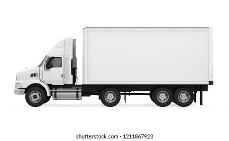 Truck Isolated (side view). 3D rendering