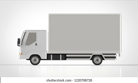 truck side 3d rendering