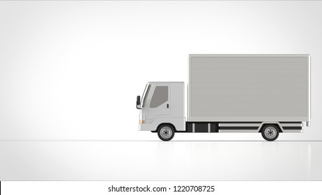 truck side right 3d rendering