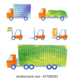 trucks and forklifts