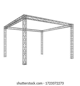 Truss construction. Isolated on white background. 3d illustration
