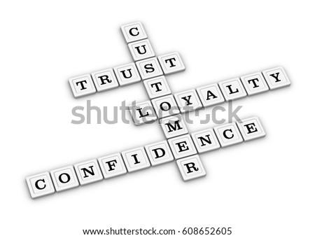 Trust Loyalty Confidence Customer Crossword Puzzle Stock