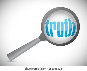 truth under investigation. concept illustration design over white