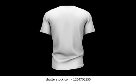 t-shirt 3d illustration render male and woman white shirt isolated