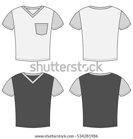 T Shirt Design Templates Front And Back Sides Raster Version
