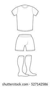 tshirt shorts socks template design sample stock vector royalty