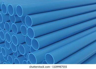 Tubes PVC pipes background, 3D rendering