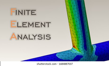 Tubular joint engineering with finite element analysis and von mises stress plot.