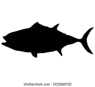 Tuna cool silhouette background material
