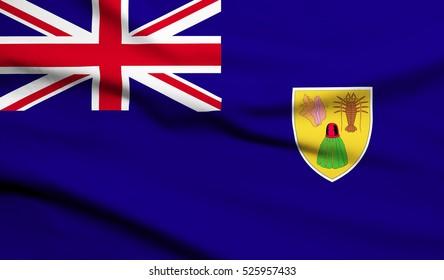 turk and caicos islands Flag Waving