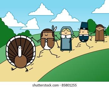 Turkey chase - raster