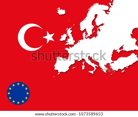 Turkey On Europe Map.Royalty Free Stock Illustration Of Turkey European Union Flag Europe