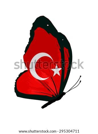 7045746e1ed Turkey flag butterfly ilustración de stock shutterstock jpg 344x470 Flag  butterfly