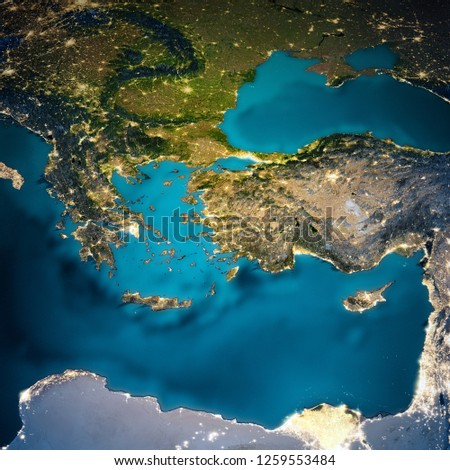Turkey And Greece Map.Turkey Greece Map Elements This Image Stock Illustration Royalty