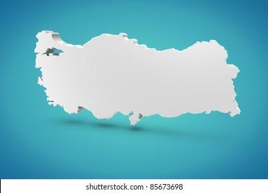 Turkey Map Images, Stock Photos & Vectors   Shutterstock