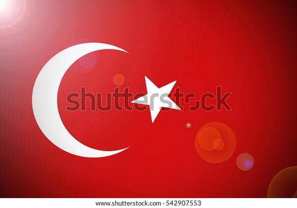 Turkey national flag illustration symbol.