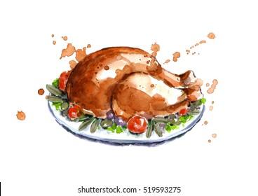 Turkije op Thanksgiving Day.
