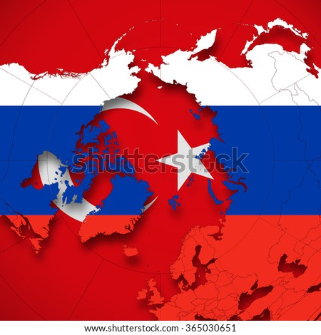 Royalty Free Stock Illustration Of Turkey Russia Flag World Map