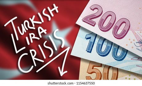 Turkish Lira Crisis Illustration