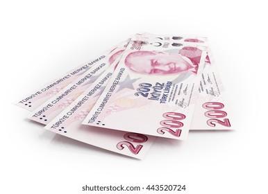 Turkish lira under cloud. 3d rendering