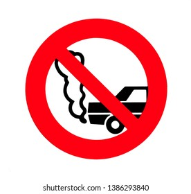 Turn off engine sign. No idling.