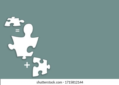 turquoise background with white puzzles