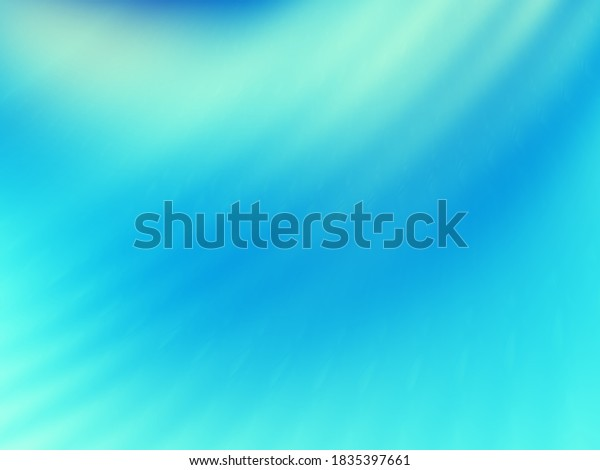 Turquoise blue wave modern beauty abstract background
