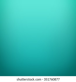 Turquoise color gradient vignette. Abstract gradient color background design.