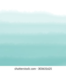 Turquoise Green Ombre Watercolor Background