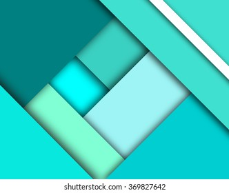 Turquoise, grunge blue, mint and tiffany blue colors. Geometric stripes modern stylish texture. Abstract diagonal tiles. Modern material design elements. Tiffany blue abstract design material elements